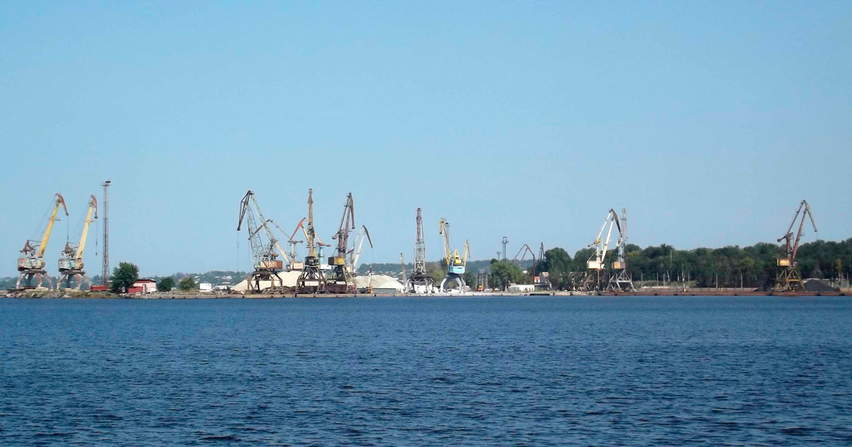 Запорожье - речной порт. wikimedia