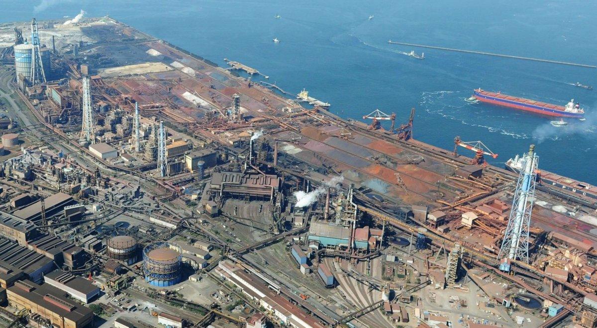 Сталеплавильный завод Kimitsu Works, которым управляет Nippon Steel. japantimes.co.jp