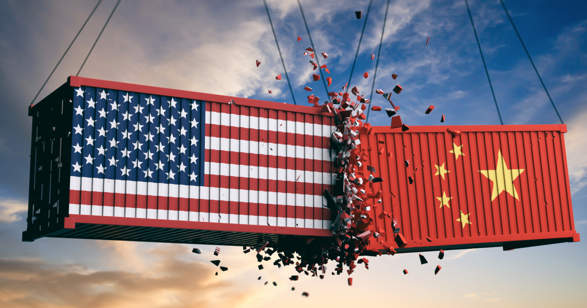 USA and China trade war - crashed containers-shutterstock