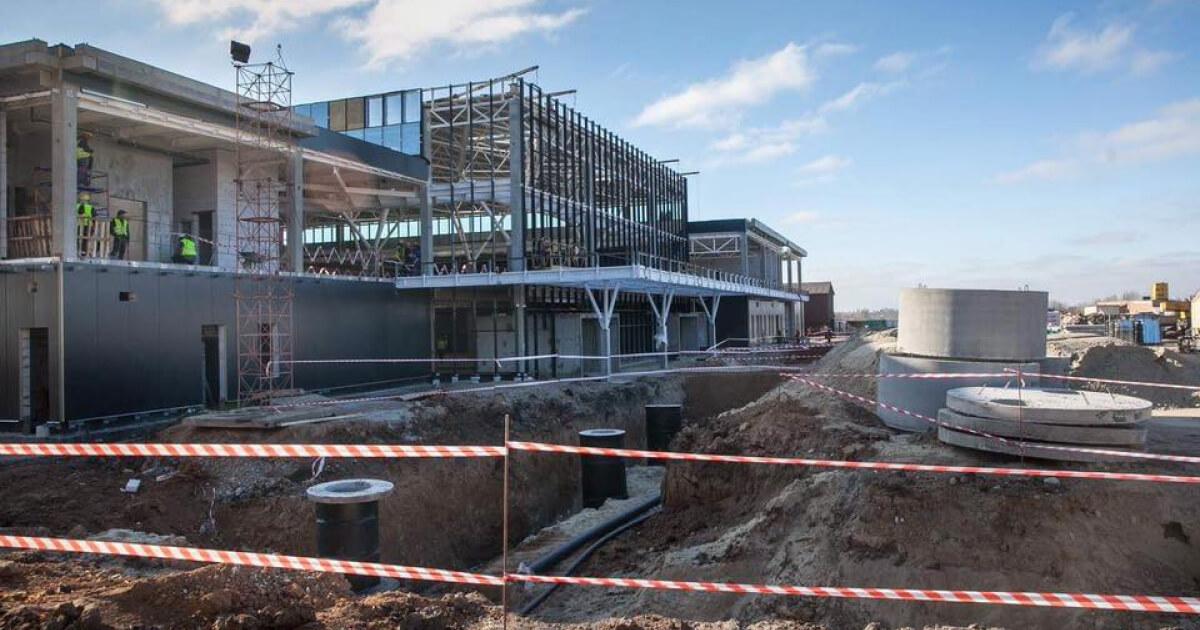 CKS поставила стальные конструкции на строительство нового терминала аэропорта Запорожье (С) inform.zp.ua