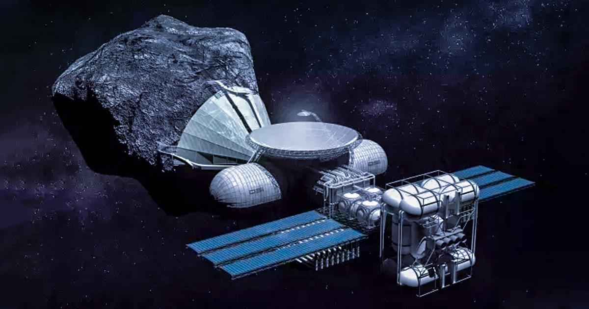 Deep Space Industries Fuel Processor concept © Bryan Versteeg-DSI