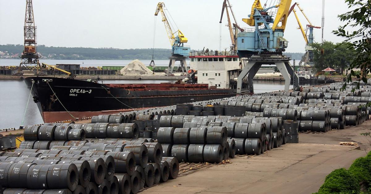 Запорожский речной порт переввлил 670 тыс. т металлопроката за год © ports.com.ua