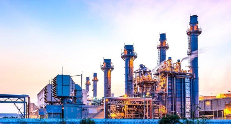 Сталелитейные заводы в крупном промышленном районе Китая. shutterstock