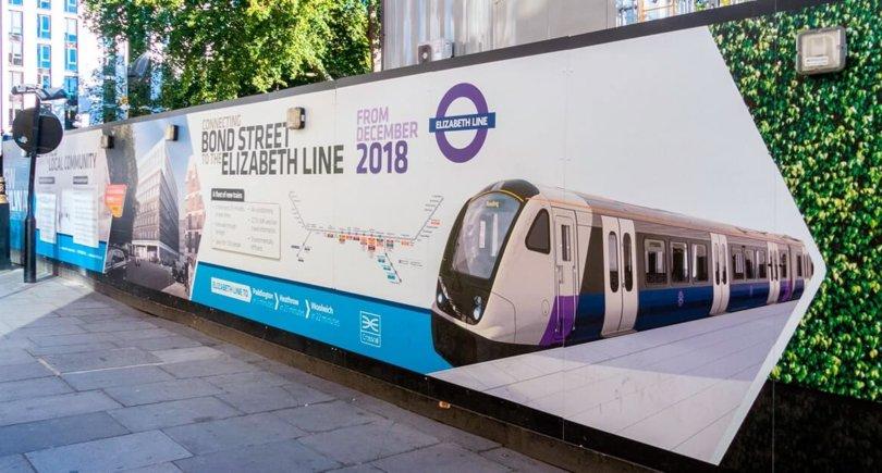 Лондон, Бонд-стрит, станция Elizabeth line, расположенная на Ганноверской площади.
