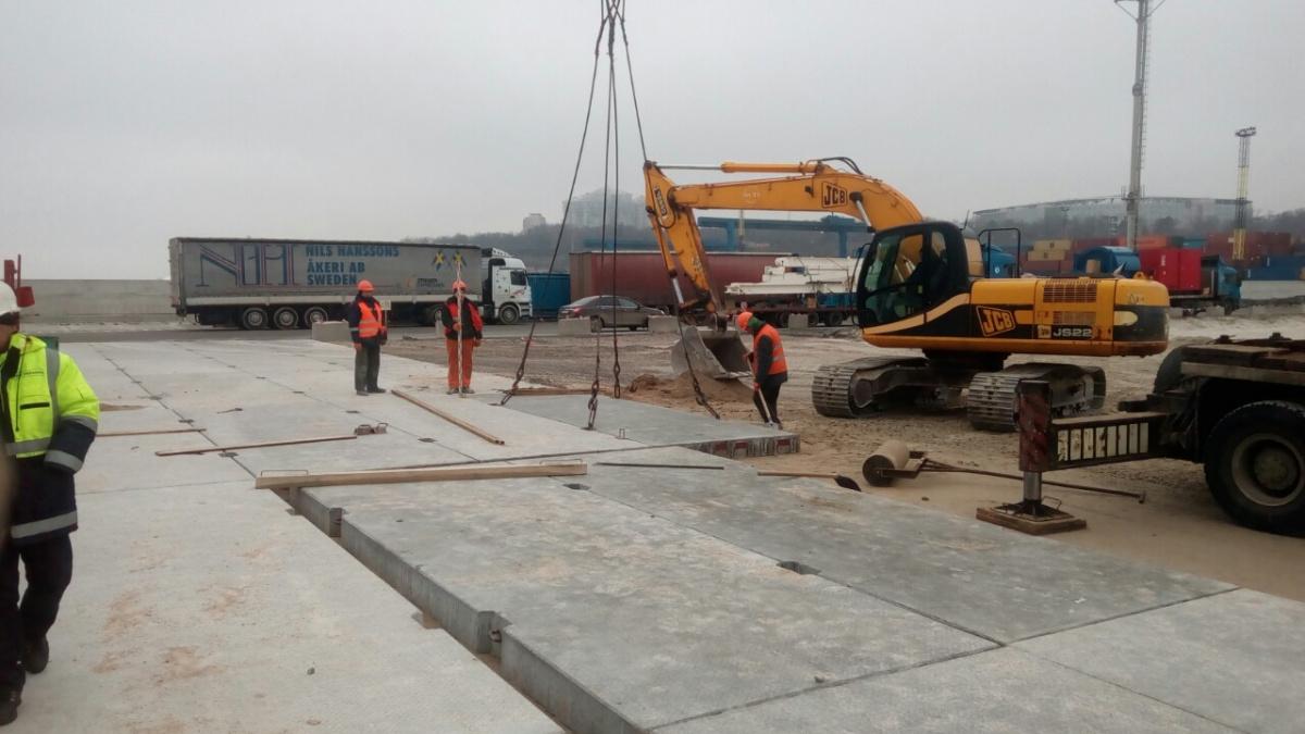 Дніпроенергобудпром реконструирует контейнерную площадку Одесского морского торгового порта - odesp.com.ua