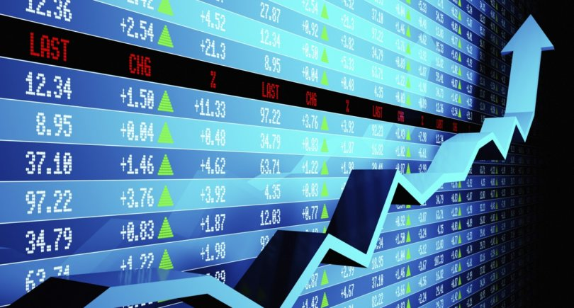 Stock market data with uptrend vector. www.expatica.com